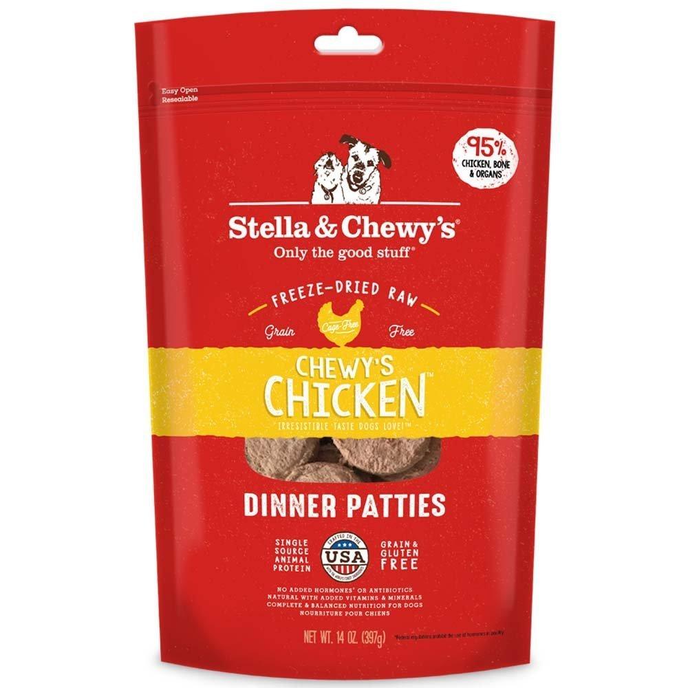 Stella & Chewy's Freeze-Dried Raw Chewy's Chicken Dinner Patties Dog Food, 14 oz bag