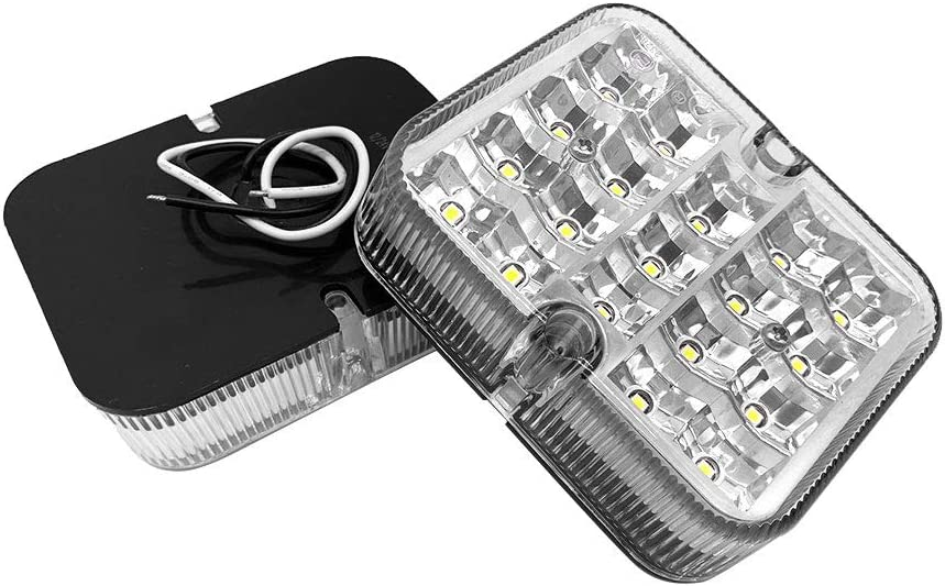 Hawkeye 2 Pcs Led Rear Reverse Light White Lamp Universal for Trailer Truck Van white, rectangle