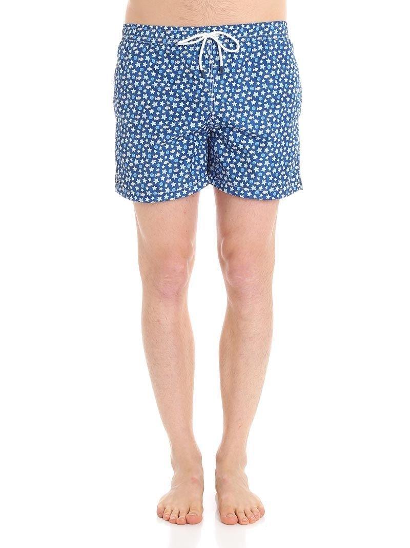 Fedeli Men's 1Ue00318b051817 Blue Polyester Trunks