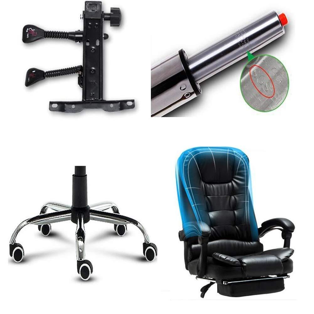 Executive Recline ergonomiska kontorsstolar, Executive extra vadderad hög rygg lutning liggande falskt läder skrivbord dator med armar stol kontorsstol Svart BRUN