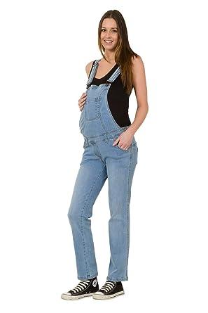 Wash Clothing Company Denim Maternity Dungarees Palewash Pregnancy Fashion Overalls MATERNITYBASICPALE