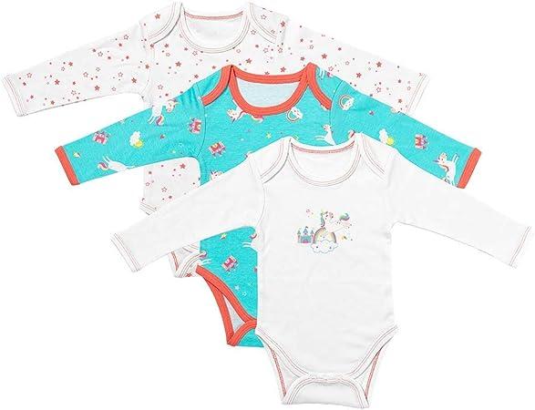 3 Pack Slumbersac Baby Bodysuit Long Sleeve Forest Friends Size 74cm//6-9 Months
