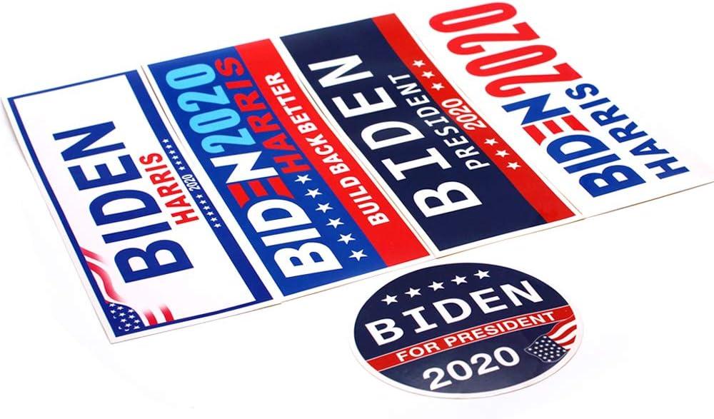 Biden Bumper Stickers for Presidential Election Five Different Sticker Designs PVC Sticker 5 pcs Limited Time Offer Guppyhill Biden Harris 2020 Vote Sticker 5 Pcs