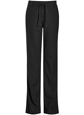 78a68c3282 Famous UK's brand Womens Parallel Linen Long Relaxed Trousers Black Navy  Pink 6 16: Amazon.co.uk: Clothing