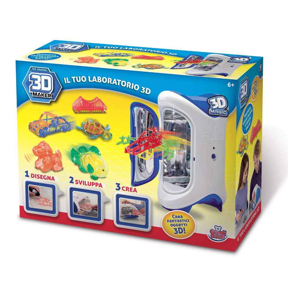 Grandi Giochi gg00147 - 3D Maker il Tuo Laboratorio 3D: Amazon.es ...