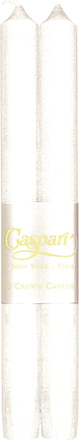 Silver Unscented Candles Smokeless Entertaining with Caspari 10-Inch Taper Dripless Set of 2