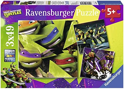 Amazon.com: Puzzle teenage mutant ninja turtles 3 x 49pc ...