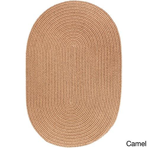 Rhody Rug Madeira Indoor/Outdoor Oval Rug (2' x 3') Camel