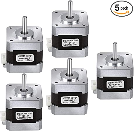 2-Phase 4-Wire 1.8 Deg Stepper Motor with Bipolar Motor Cables for 3D Printer//CNC 56.2oz.in TopDirect Nema 17 Stepper Motor 1.7A 40Ncm
