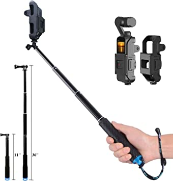 osmo pocket extension pole selfie stick tripod mount adapter for dji osmo pocket action camera gopro 7 6 5 4 3 xiaoyi