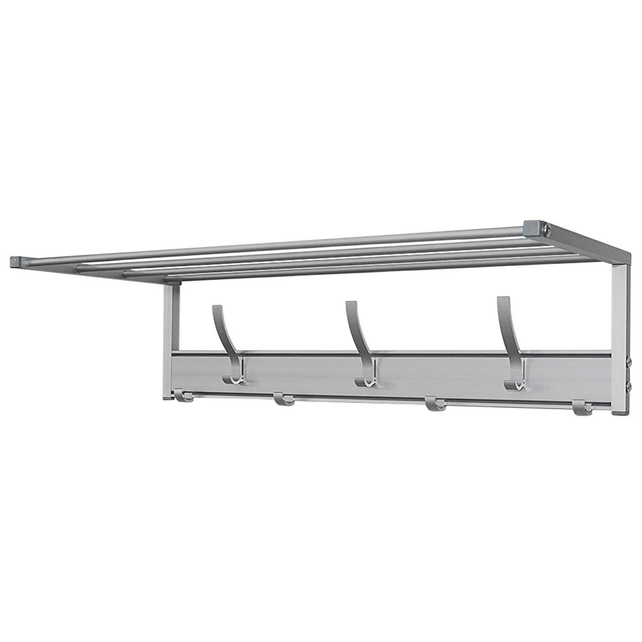 """Wall Mounted Hanger Rail for Coats, Clothes, Bags 