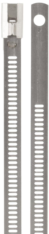 "BAND-IT AE6049 316 Stainless Steel Multi Lok Cable Tie, 0.27\"" Width, 18\"" Length, 5.1\"" Maximum Diameter, Bag of 100 61EldfJ82BdL._SL1500_"