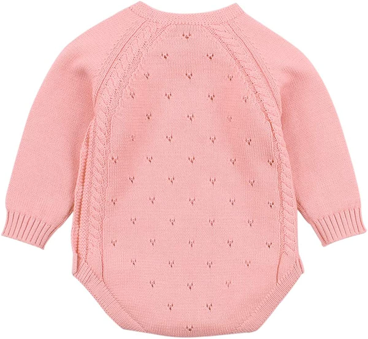 Amazon.com: niceclould US Newborn Baby Girl Solid Bodysuit Outfit