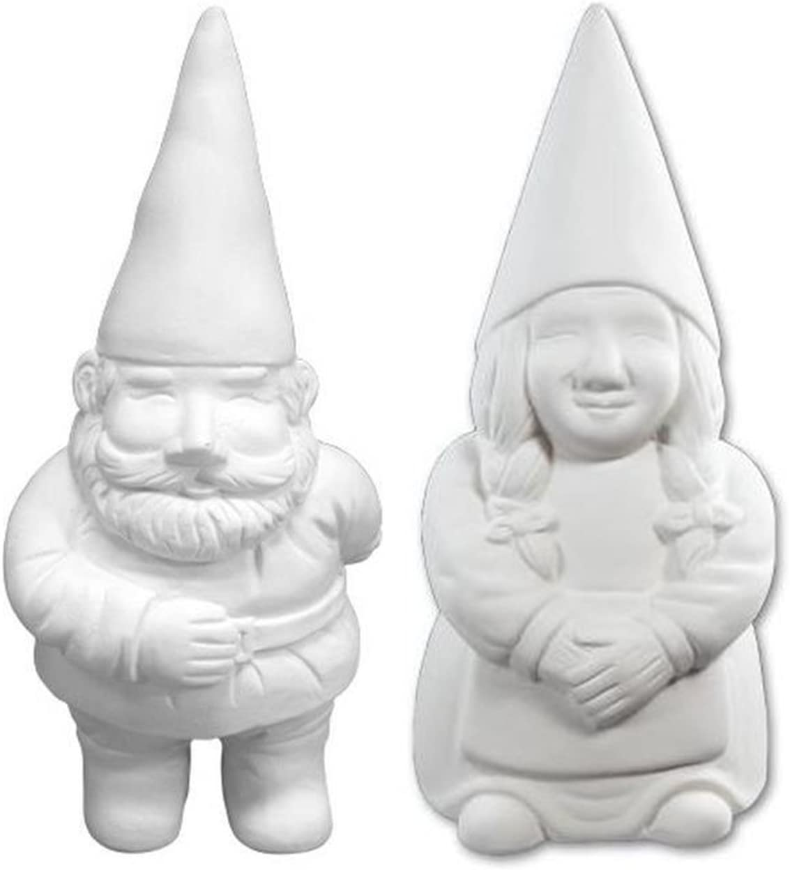 George and Gwen The Garden Gnomes - Paint Your Own Gnome-y Ceramic Keepsakes