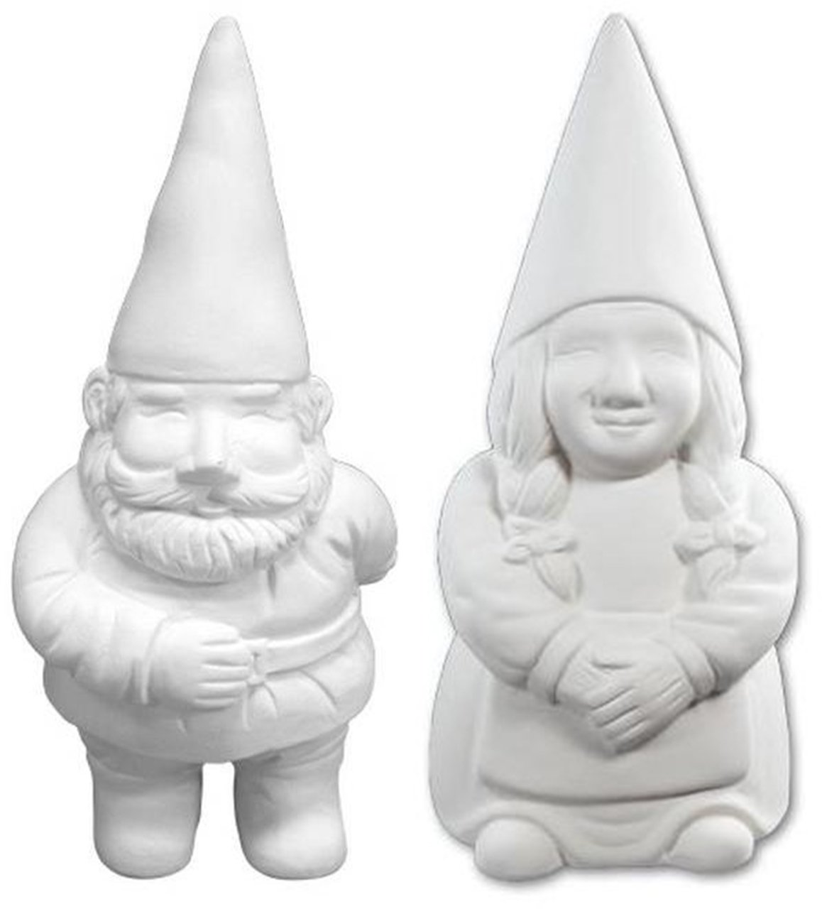 George and Gwen The Garden Gnomes - Paint Your Own Gnome-y Ceramic Keepsakes New Hampshire Craftworks