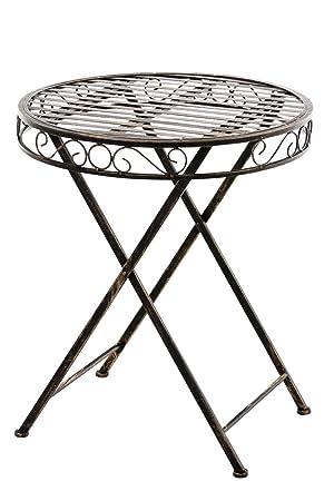 Sikalo Klapp Tisch Aus Metall Gartentisch Rund Platzsparend Farbe