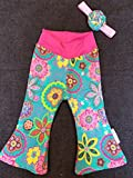 Handmade Baby and Childrens Corduroy Bell Bottoms With Headband