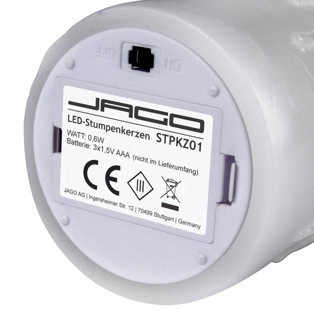 Jago - STPKZ01-3er+FB+FW - Velas LED - Cambio de color con mando a distancia: Amazon.es: Bricolaje y herramientas