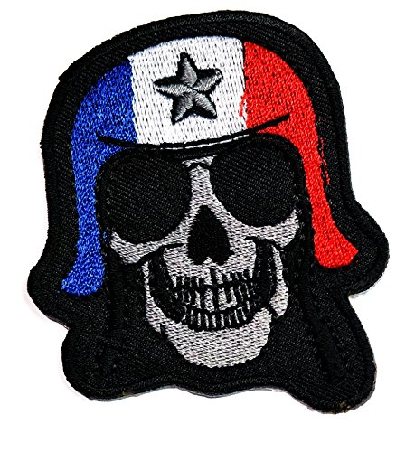 Skull hat Netherland Flag Patch Skull logo Halloween Iron On Patch Embroidery Applique Patch jacket vest cap sew iron on patch badge Patch Symbol Badge Cloth Sign Costume