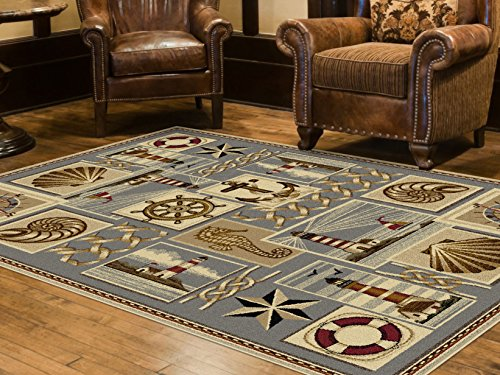Universal Rugs Lodge Novelty 5 ft. 3