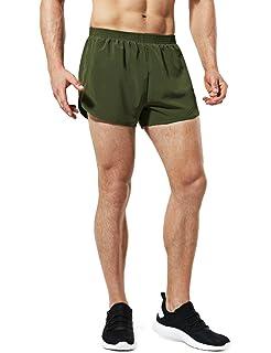 1730fc57e7a33 TSLA Men's 3 inches Quick-Dry Mesh Liner Pace Running Shorts Jogging  Marathon w Pocket