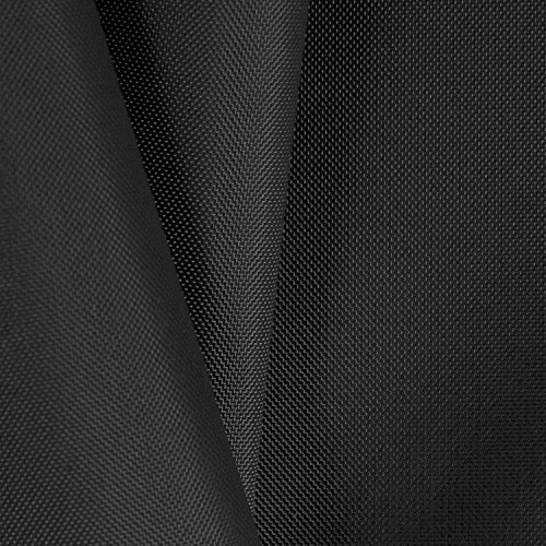 Black 210 Denier Coated Nylon Oxford Fabric - by