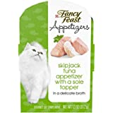 Purina Fancy Feast Grain Free Wet Cat Food Complement, Appetizers Tuna With a Sole Topper - 1.1 oz. Tray, 10 count