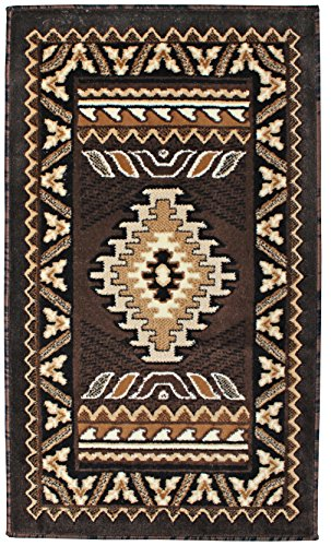 Southwest Indian Rugs - Rugs 4 Less Collection Southwest Native American Indian Door Mat Area Rug Design R4L 143 Chocolate / Brown (2'X3'4