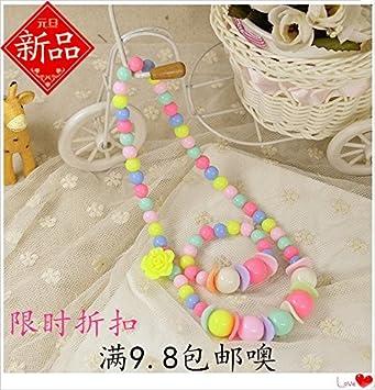 64429139b Amazon.com   Korean girls accessories children s necklace Bracelet ...