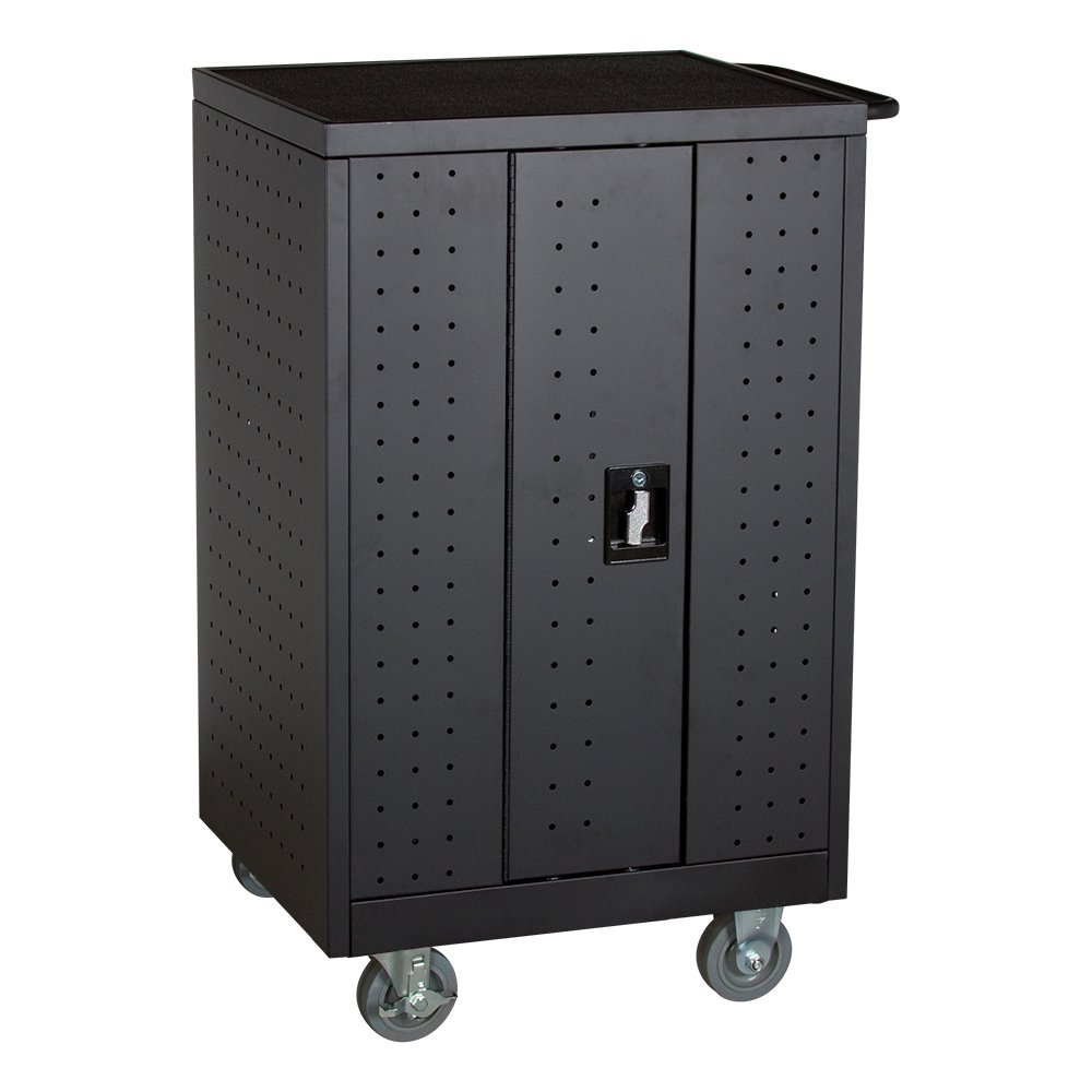 Learniture 12-Outlet Laptop/Tablet Assembled Charging Cart, NOR-GNO1005A-SO Black