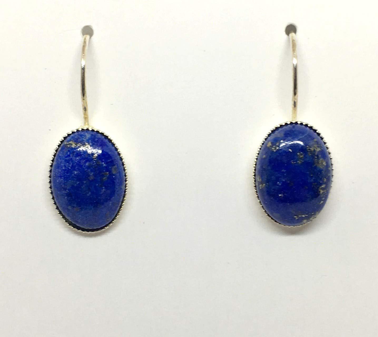 Lapis Lazuli Earrings Blue Lapis Earrings Sterling Silver Cube Threader Earrings Minimalist Jewelry Blue Stone Earrings Modern Boho Gifts