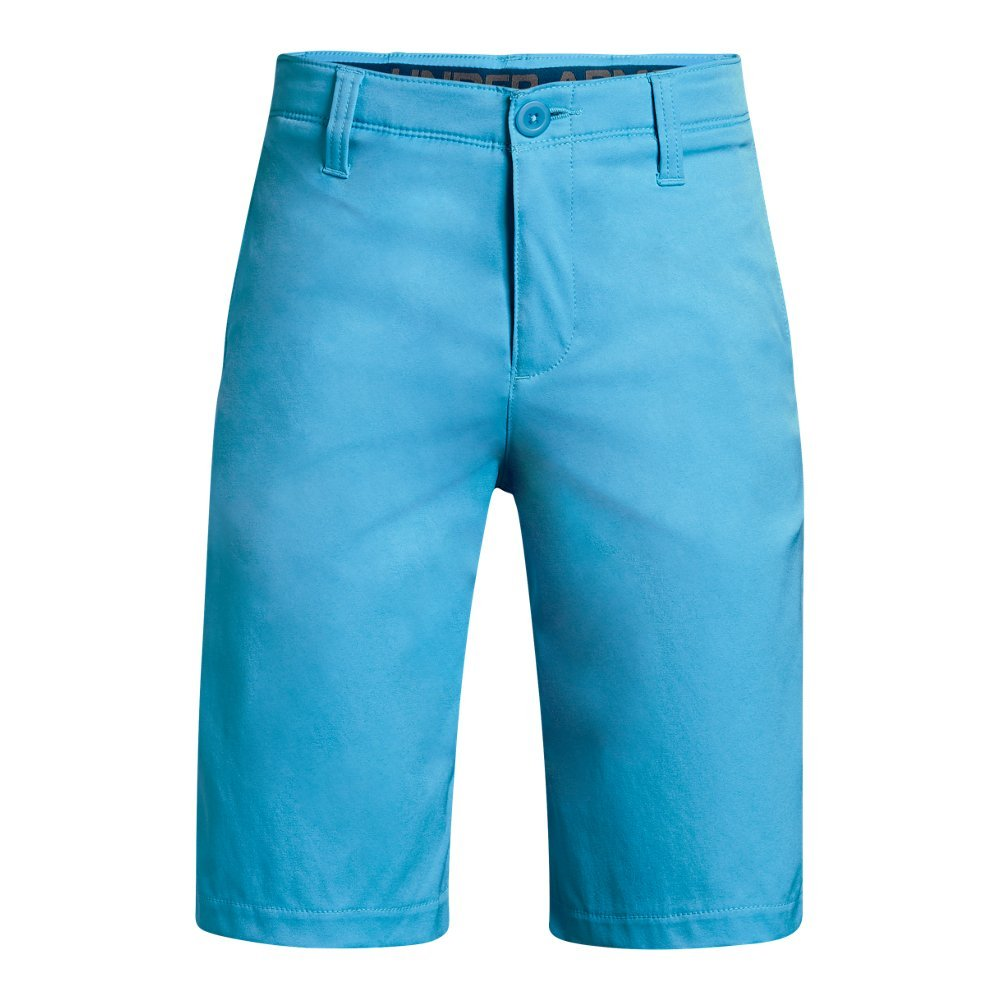 Under Armour Boys' Match Play Polo Shorts, Canoe Blue (713)/Canoe Blue,16 by Under Armour