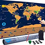 Travel Maps Scratch Off World Map   Extra Large