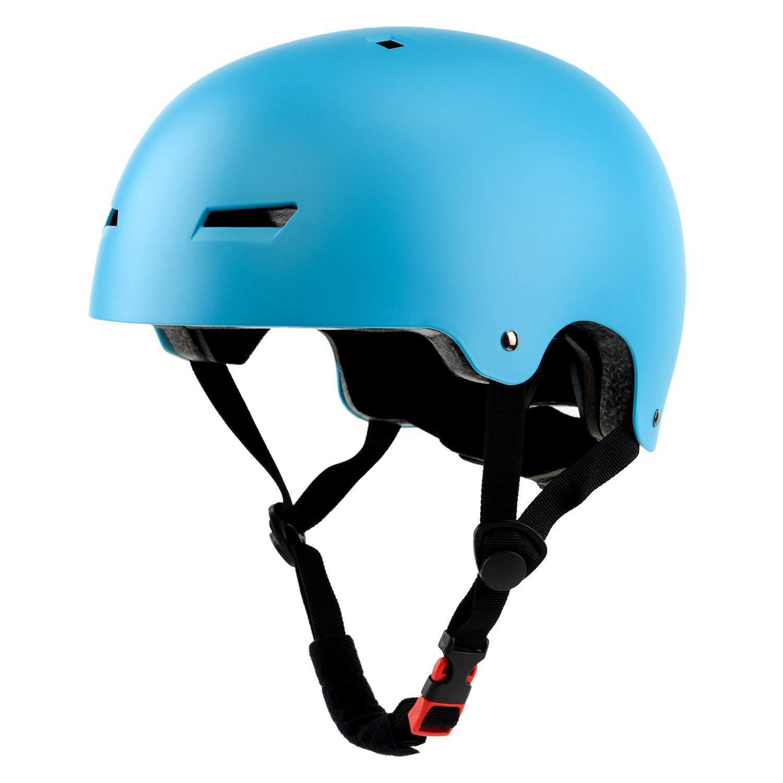 Ouwoer Kids/Adult Skateboard & Bike Helmet, CPSC Certified, Adjustable and Multi-Sport, from Toddler to Adult (Blue)