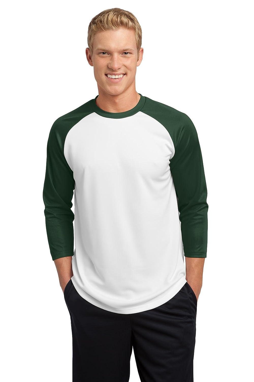 Sport TekメンズPosiCharge野球ジャージー B00PCR5XQM XL|White/For Grn White/For Grn XL