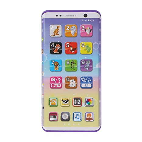 ❤ Cooplay White Yphone Y-Phone Toy Play Music Cell Phone Mobile Phone Cellphone