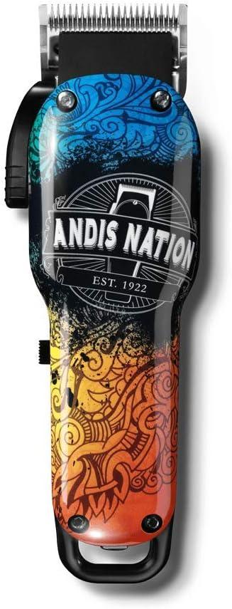 Andis - Nation LCL - Máquina de cortar el pelo, sin cable, ideal para degradados, multicolor