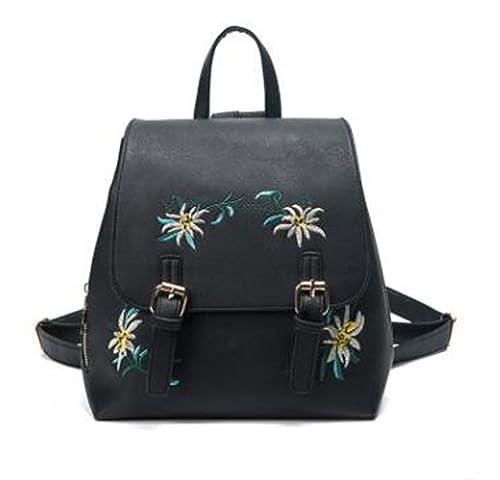 37edd35d9108 Amazon.com: Jeff Tribble Brand Women Leather Backpacks Female School ...