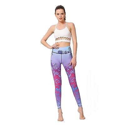 HYB Women Mujeres Pantalones de Yoga Impresos Entrenamiento Deportivo Correr Leggings Power Flex Yoga Leggings Pluma L Yoga Pants (Color : Volcano, Size : XS-US): Hogar
