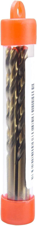 MAXTOOL No 11 Dia 0.191 Wire Gauge 5pcs Jobber Twist Drill Bits HSS M35 5/% Cobalt; JBN35G10R11P5