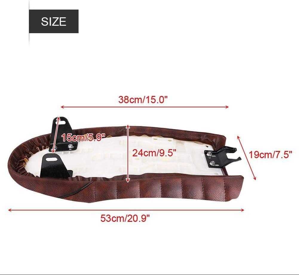 Style A Sedile per moto 4 stili Cuscino per sella piatta in pelle PU vintage Cafe Racer per CG125 GN CG CB400SS