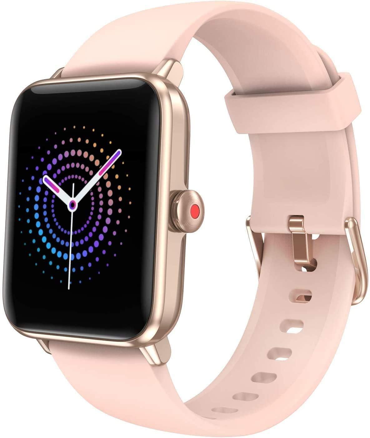 Smartwatch Damen Herren Smart Watch Mit Blutsauerstoff 1 55 Übergroß Farbdisplay Fitness Armband Mit Pulsmesser Wasserdicht Ip68 Schrittzähler Schlafmonitor Gps Fitness Uhr Für Android Ios Navigation