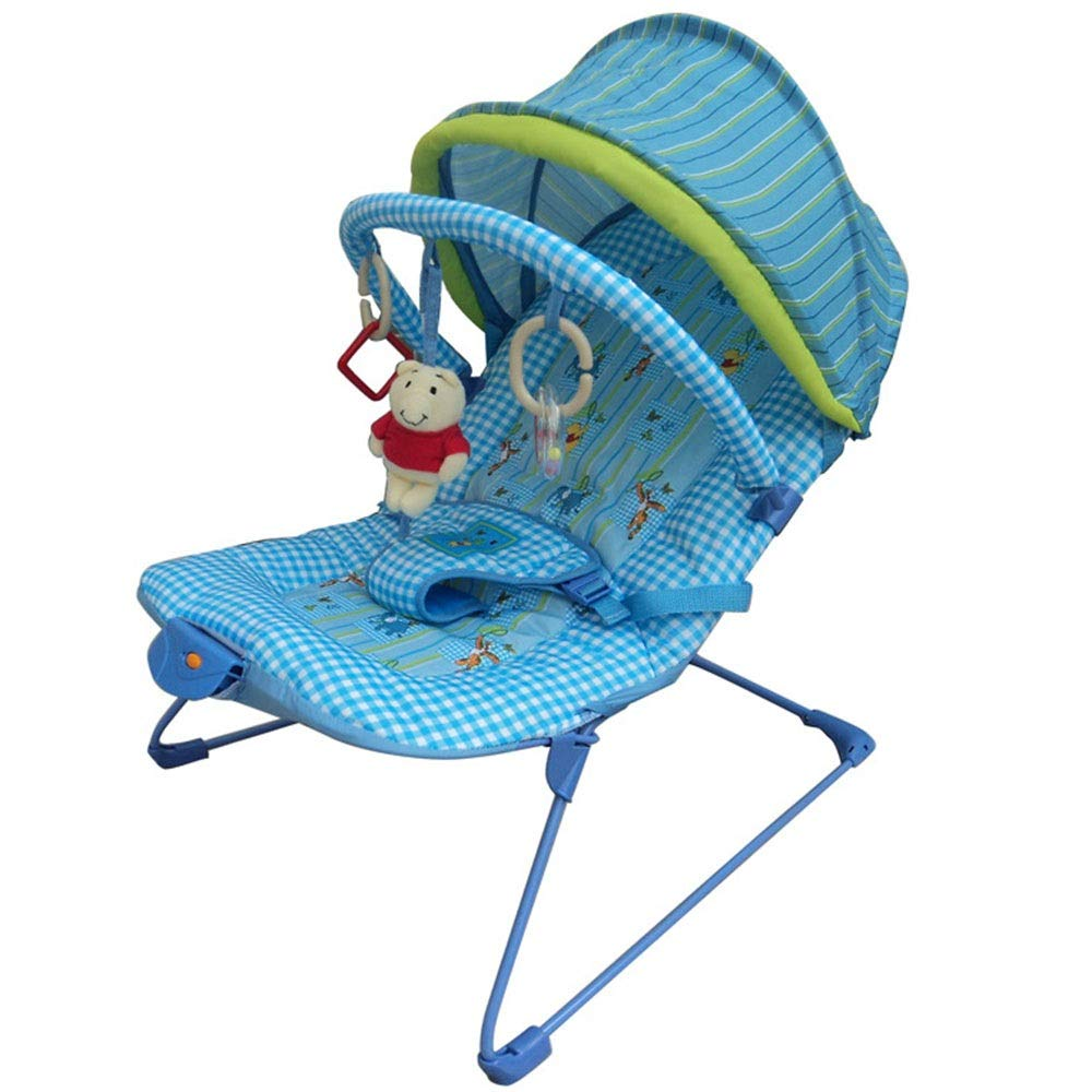 Yuehjnba Baby Rocking Chair Baby Rocking Chair Children Rocking Chair Baby Comfort Chair Suitable for Male and Female Babies A Nice Gift for Babies (Color : Blue, Size : 574954CM) by Yuehjnba