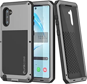 Galaxy Note 10 Metal Case Heavy Duty Military Grade Rugged Armor Cover [Shockproof] Hybrid Full Body Hard Aluminum & TPU Design [Non Slip] Compatible with Samsung Galaxy Note 10 [Silver]