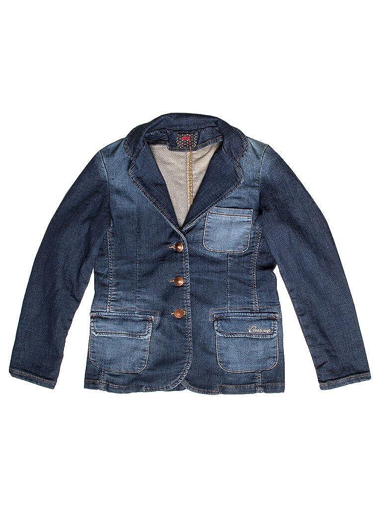 125 - Lavage Bleu Foncé 13-14 ans (hauteur  164 cm) voiturerera Jeans - Veste en Jean 451 pour Fille, Tissu Extensible, Taille Normale, Manche Longue