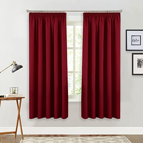 Exceptionnel PONYDANCE Blackout Pencil Pleat Windows Curtains Soft Solid Room Darkening  Thermal Insulated Blackout Curtains Christmas Home