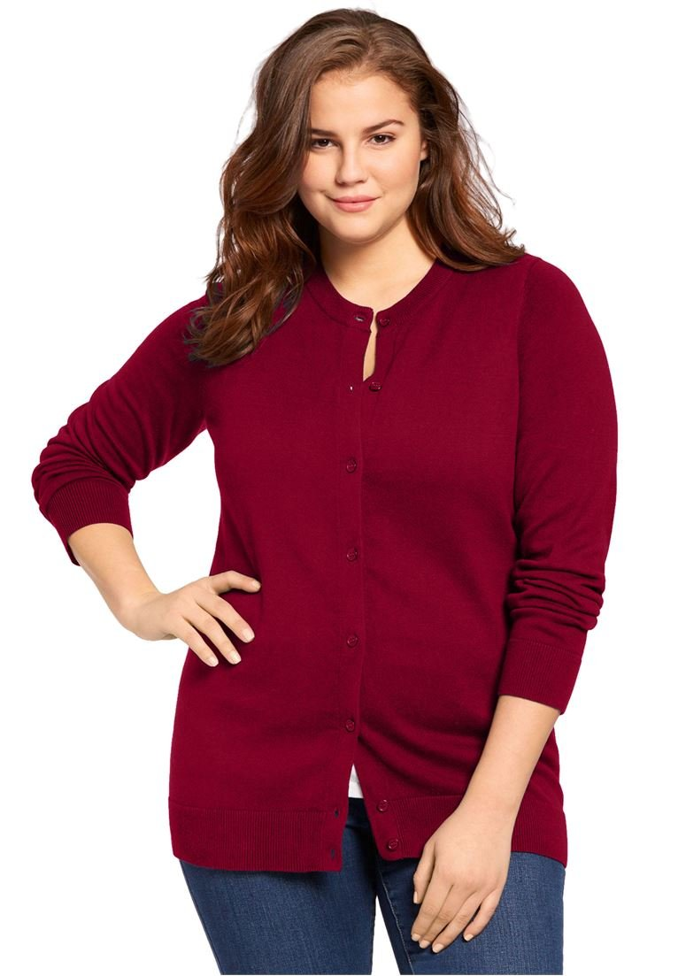 Women's Plus Size Perfect Long Sleeve Cardigan