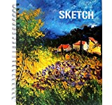 Hardcover Sketch book, Lightjust Premium Spiral Bound Sketch Pads sketchbook 8.5 x 11, 100-Sheets(120gsm), Drawing Sketch pad Perfect use for Begineers , kids and Girls.