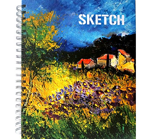 Hardcover Sketch book, Lightjust Premium Spiral Bound Sketch Pads sketchbook 8.5 x 11, 100-Sheets(120gsm), Drawing Sketch pad Perfect use for Begineers , kids and Girls. by Lightjust
