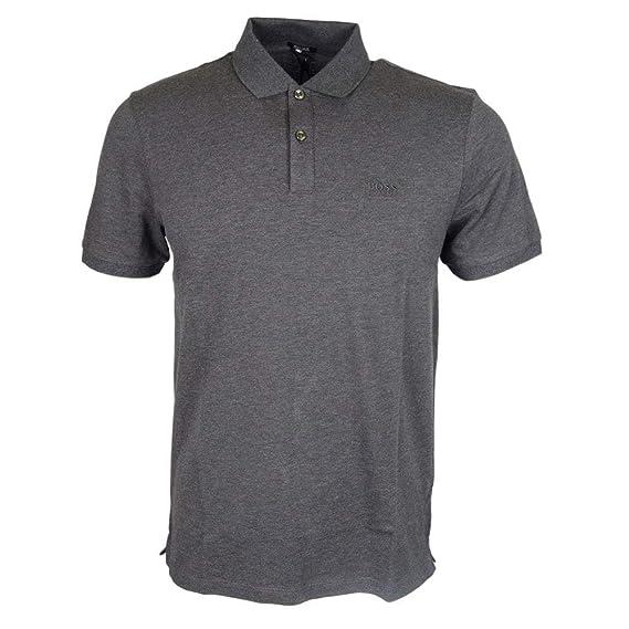 e438483fd BOSS Hugo Pallas Pique Polo Dark Grey 061 50303542: Amazon.co.uk: Clothing
